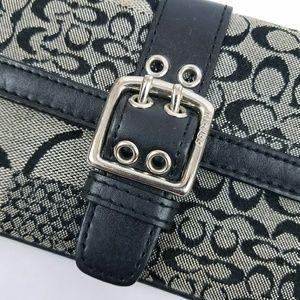 Coach Bags - Coach Black Gray Wristlet Bag Purse Signature C